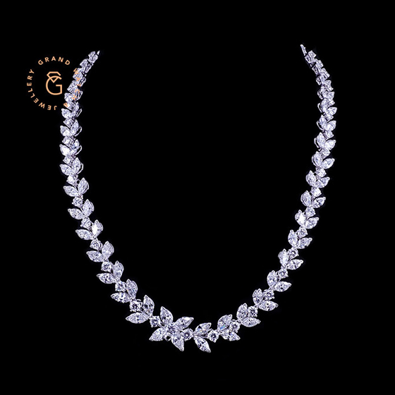 Jewellery Necklace, Set by pt950 Platinum